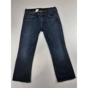 COH CITIZENS OF HUMANITY LOW WAIST CROPPED JEANS
